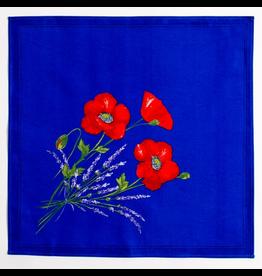 Napkin Poppies Blue