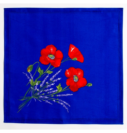 TOS Napkin Poppies Blue