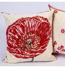 TOS Pavot Lg Poppy Jacquard Pillow