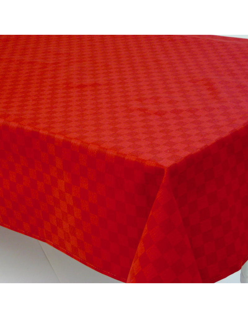 Acrylic-coated Picasso Check, Red