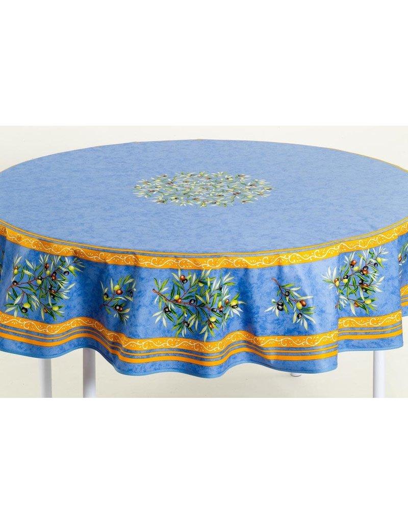 MFT Acrylic-coated Olives Blue 70 in Round w/ Zipper