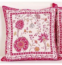 TOS Montespan Jacquard, Fuchsia (Rose)/Ecru Pillow