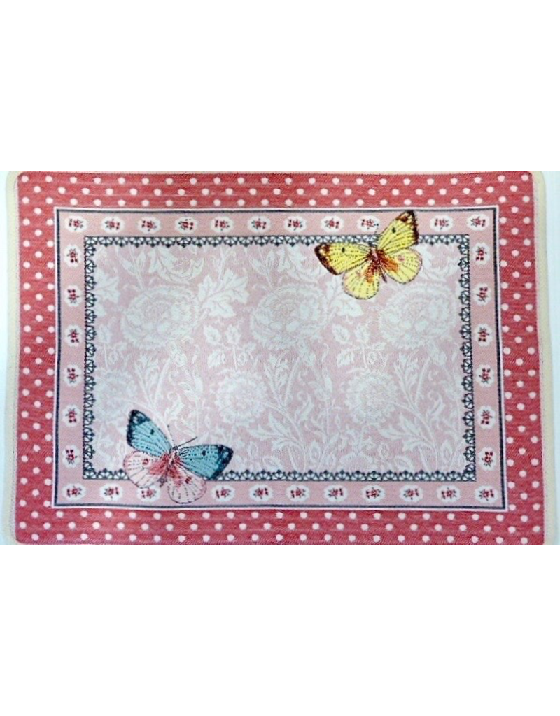 TOS Allegory Butterfly Rose Jacquard Placemat