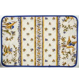 TOS Placemat, Acrylic-Coated Moustiers, Blue