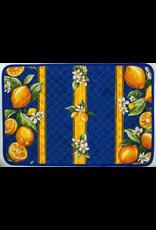 TOS Placemat, Acrylic-Coated Lemons, Blue