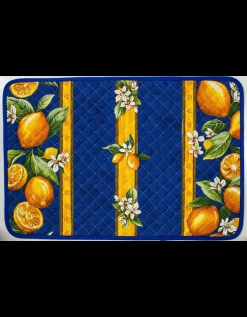 Placemat, Acrylic-Coated, Lemons Blue