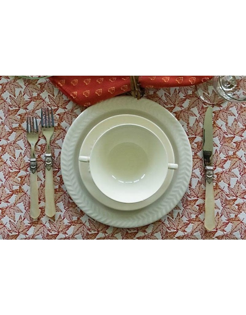 SAF Autumn Leaves Jacquard Placemat, Red