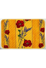 Placemat, Acrylic-Coated, Poppies Yellow