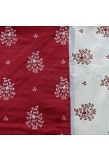Beaumaniere Jacquard, Red/Ecru, 55 in x 55 in