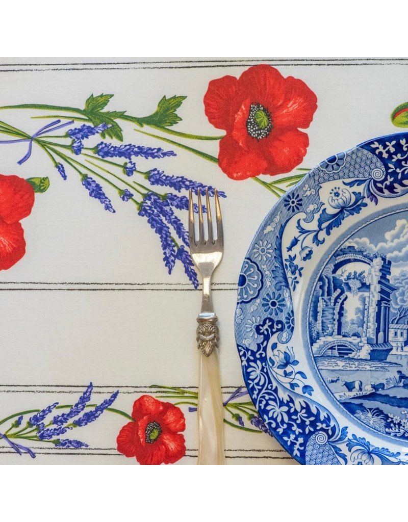 Amelie Michel Acrylic-Coated Poppies, Ivory
