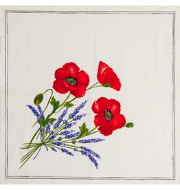 TOS Napkin Poppies Ivory