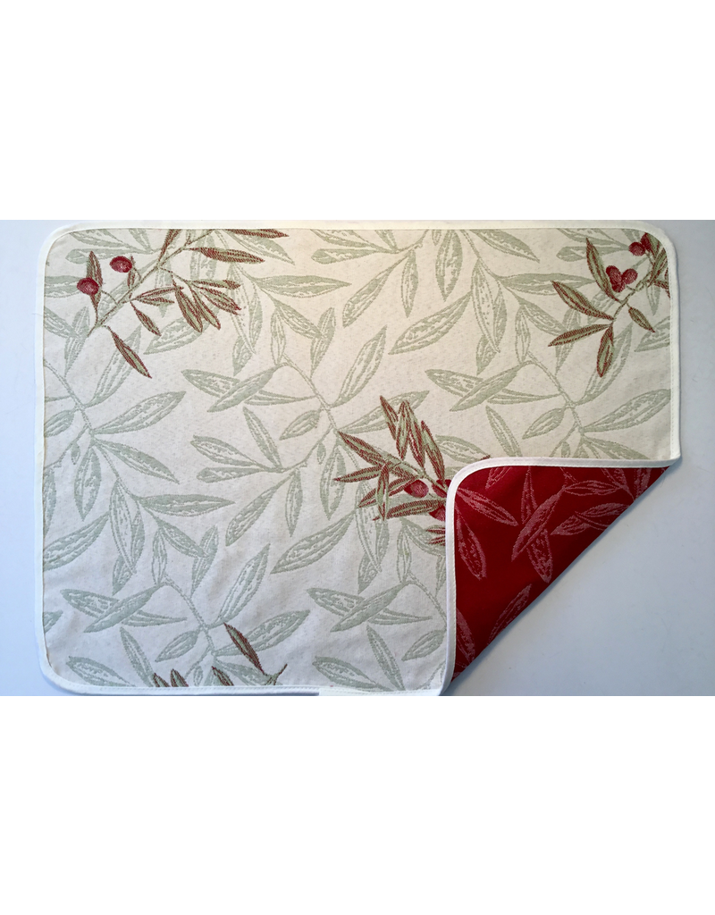 SAF Auriol All Over Reversible Jacquard Placemat, Red