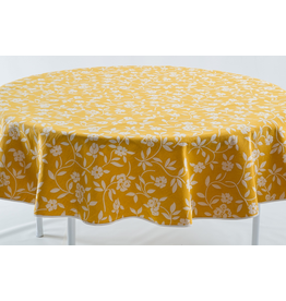 GEO Mercurio Reversible Jacquard Round, Yellow