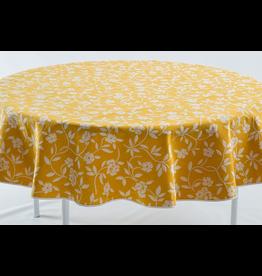Mercurio Reversible Jacquard Round, Yellow,