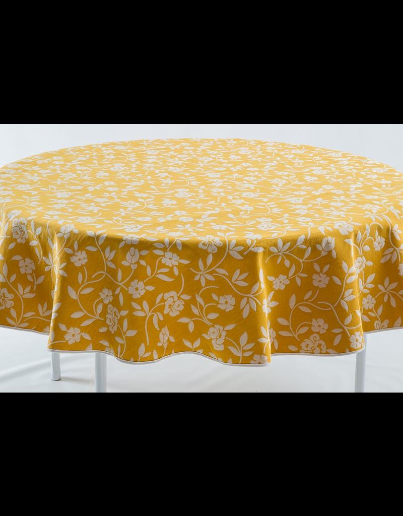 Mercurio Reversible Jacquard Round, Yellow