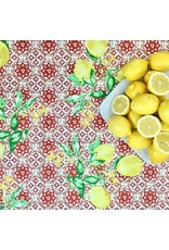 Amelie Michel Acrylic-Coated Gorbio Lemons, Red