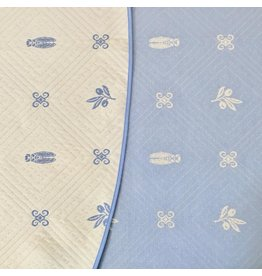 Fontaine Reversible Jacquard Round, Blue