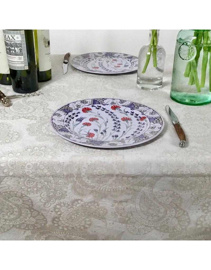 Amelie Michel Acrylic-Coated Klimt Floral, Linen