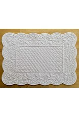 Placemat, Quilted Rectangle, White