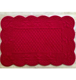 SAF Quilted Rectangle Placemat, Red