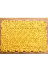 SAF Quilted Rectangle Placemat, Yellow
