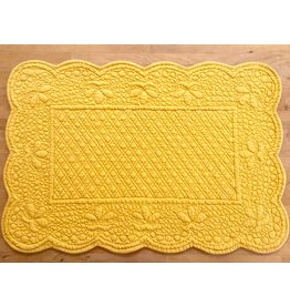 Placemat, Quilted Rectangle, Yellow