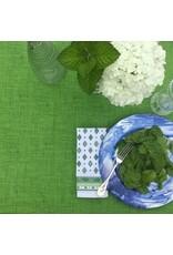 "Amelie Michel Acrylic-Coated Olimpia ""Linen-Look"", Green"