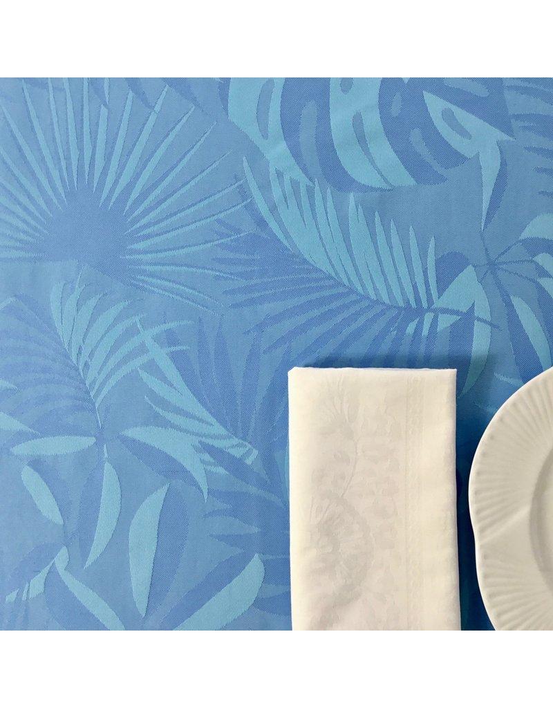Amelie Michel Acrylic-Coated Balata Leaves Jacquard, Blue
