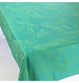 TOS Acrylic-Coated Balata Leaves Jacquard, Green