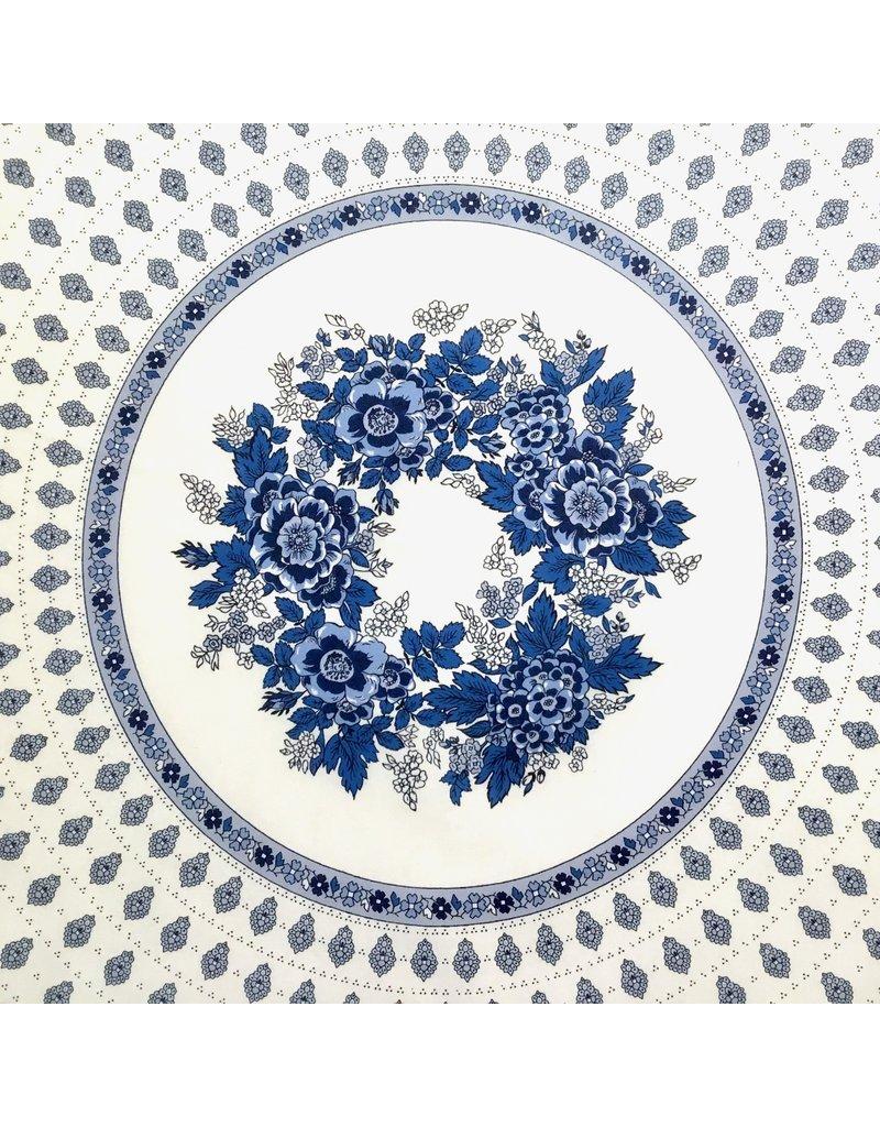 Acrylic-coated Bastide White/Blue 70 in Round