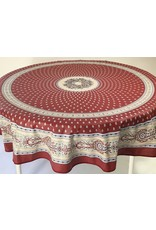 Acrylic-coated Bastide Red 70 in Round