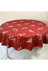 Auriol All Over Reversible Jacquard Round, Red