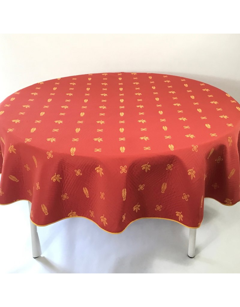 Fontaine Reversible Jacquard Round, Red