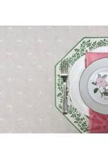 Placemat, Octagonal, Calison Fleur Green w/ White