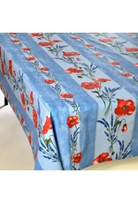 Amelie Michel Acrylic-Coated Poppies, Light Blue