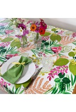 Amelie Michel Acrylic-Coated Glycine Floral, Anis Green
