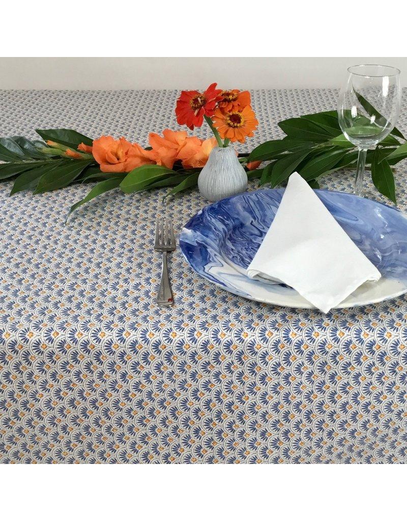 Amelie Michel Acrylic-Coated Beaucaire Fans, Blue