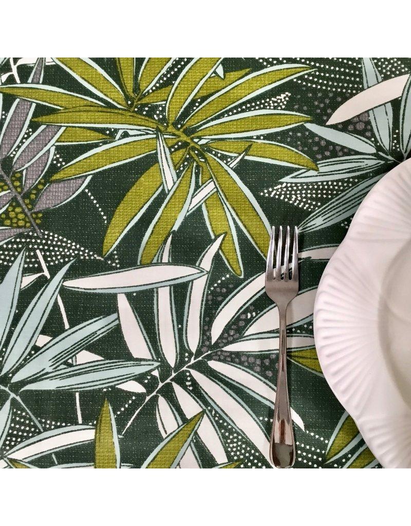 Amelie Michel Acrylic-Coated Tonga Tropical Leaves, Green