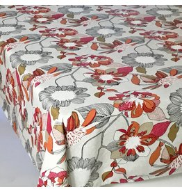 Amelie Michel Acrylic-Coated Bergen Floral, Red
