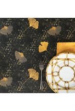 Amelie Michel Acrylic-Coated Shandong Ginkgo Leaves, Black