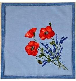 Napkin Poppies Light Blue