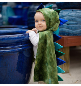 Great Pretenders *New* Dragon Toddler Cape,  Green/Blue, 2-3T