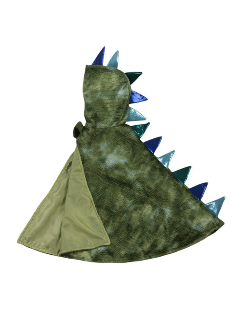 Great Pretenders Dragon Toddler Cape,  Green/Blue, 2-3T