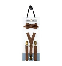 Walnut Bow Tie Set, 0-5Y