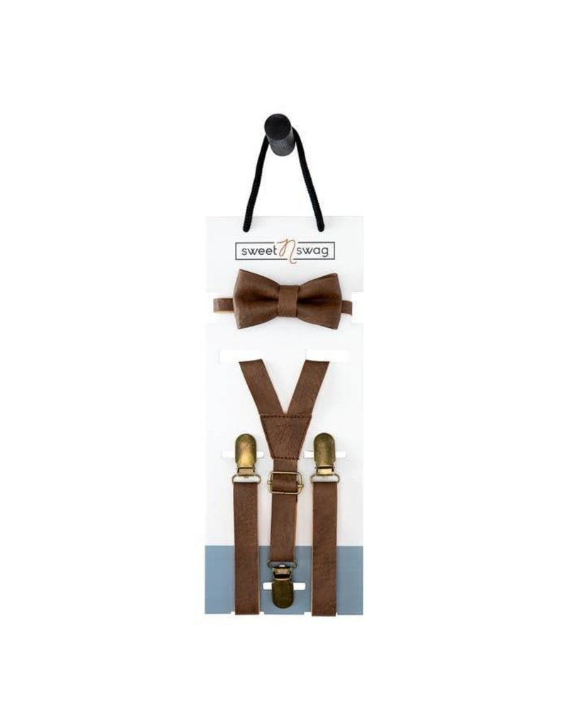 Walnut Bow Tie Set, 0-5Y