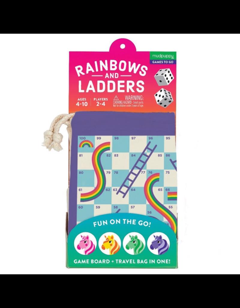 Mudpuppy Rainbows And Ladders! Travel Game