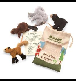 Folkmanis Mini Woodland Animals Finger Puppet Set