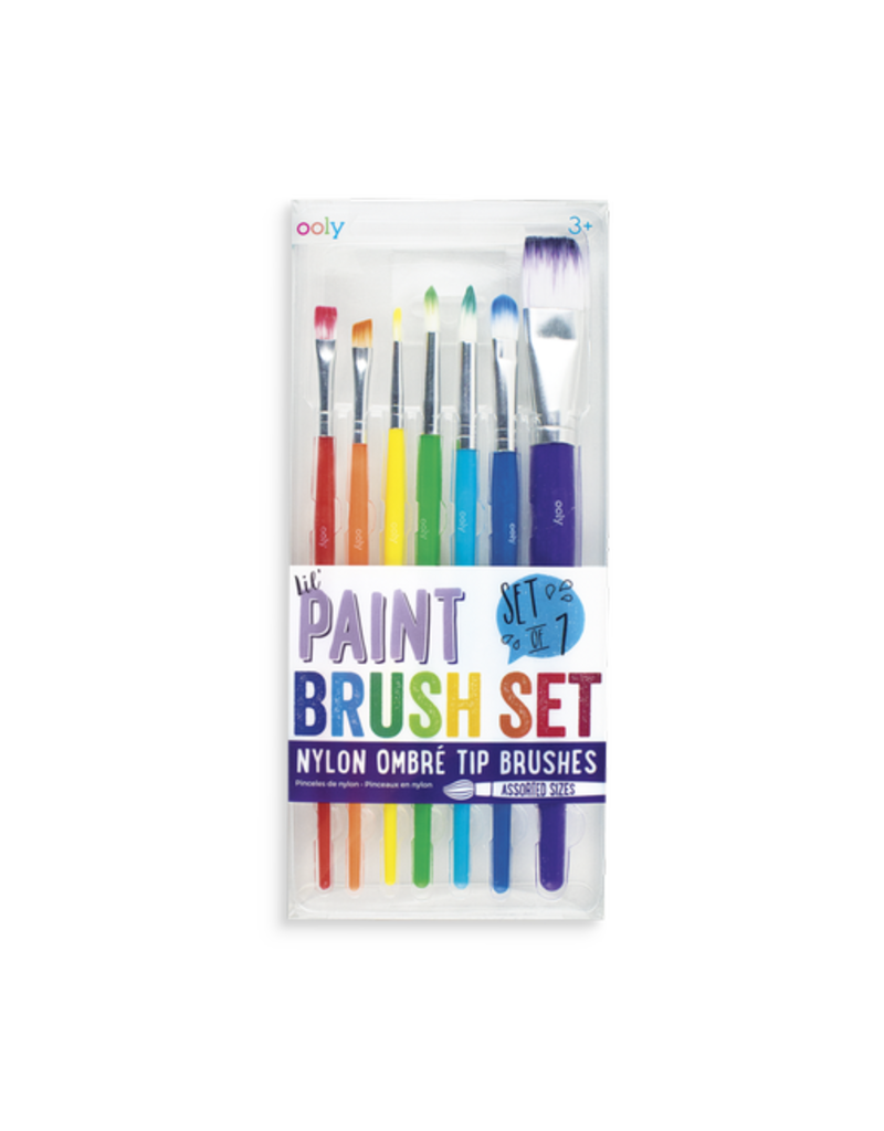 Ooly Lil Paint Brushes - 7pc