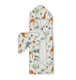 Loulou Lollipop Safari Hooded Towel & Cloth