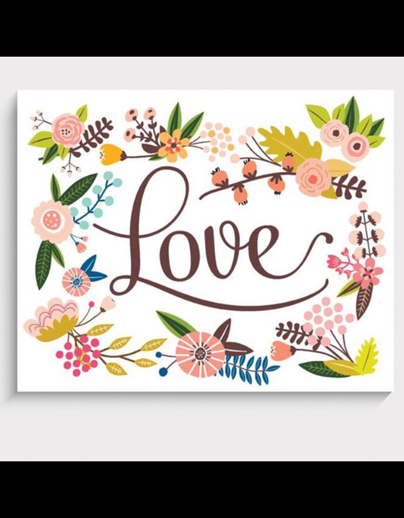 "Floral Love Art Print 5""x7"""